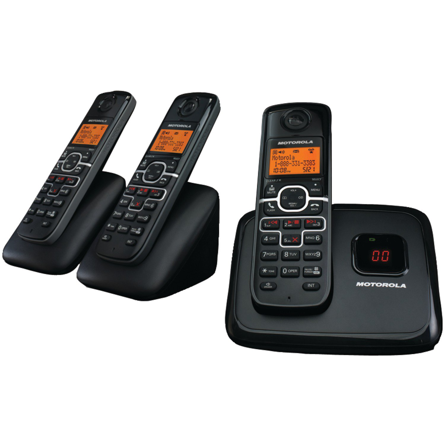 Motorola L703M Dect 6.0 Cordless Phone with 3 Handsets an...