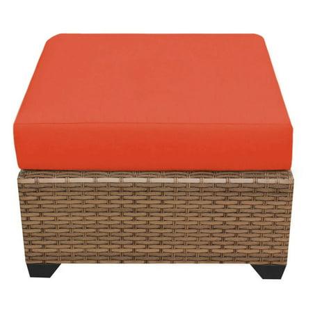 TK Classics Laguna Wicker Outdoor Ottoman - Set of 2 Cushion Covers ()