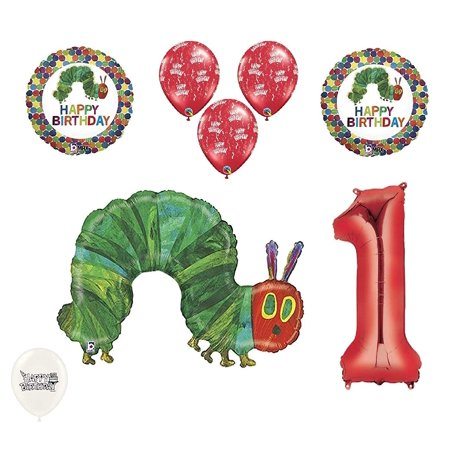 Caterpillar Party Supplies (1st First Birthday The Very Hungry Caterpillar Balloons Party)