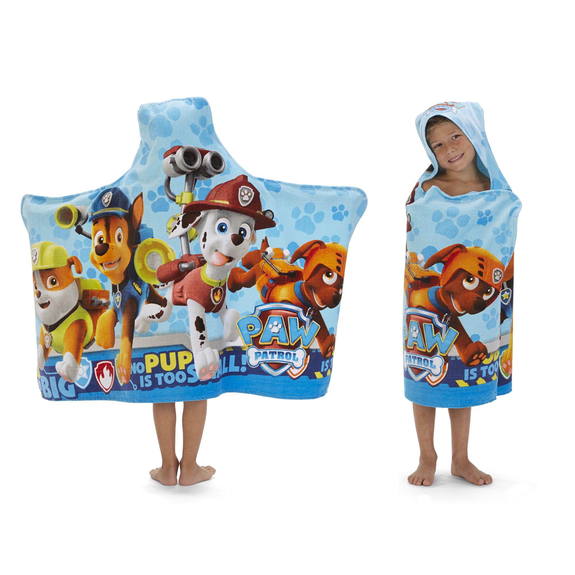 Childrens Paw Patrol Chase Hooded Bath Towel Poncho