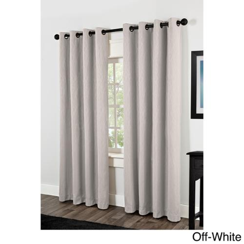 Crete Thermal Insulated Grommet Top 84 inch Curtain Panel Pair Off-White