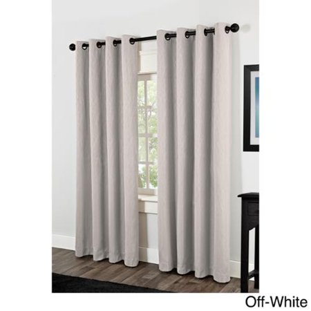 Crete Thermal Insulated Grommet Top 84 Inch Curtain Panel Pair Off White
