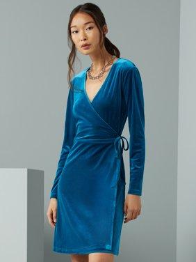 C. Wonder Women's Velvet Wrap Dress