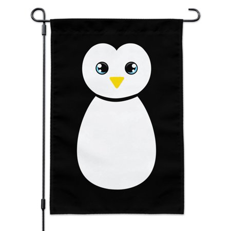 Image of Cute Penguin Black and White Garden Yard Flag