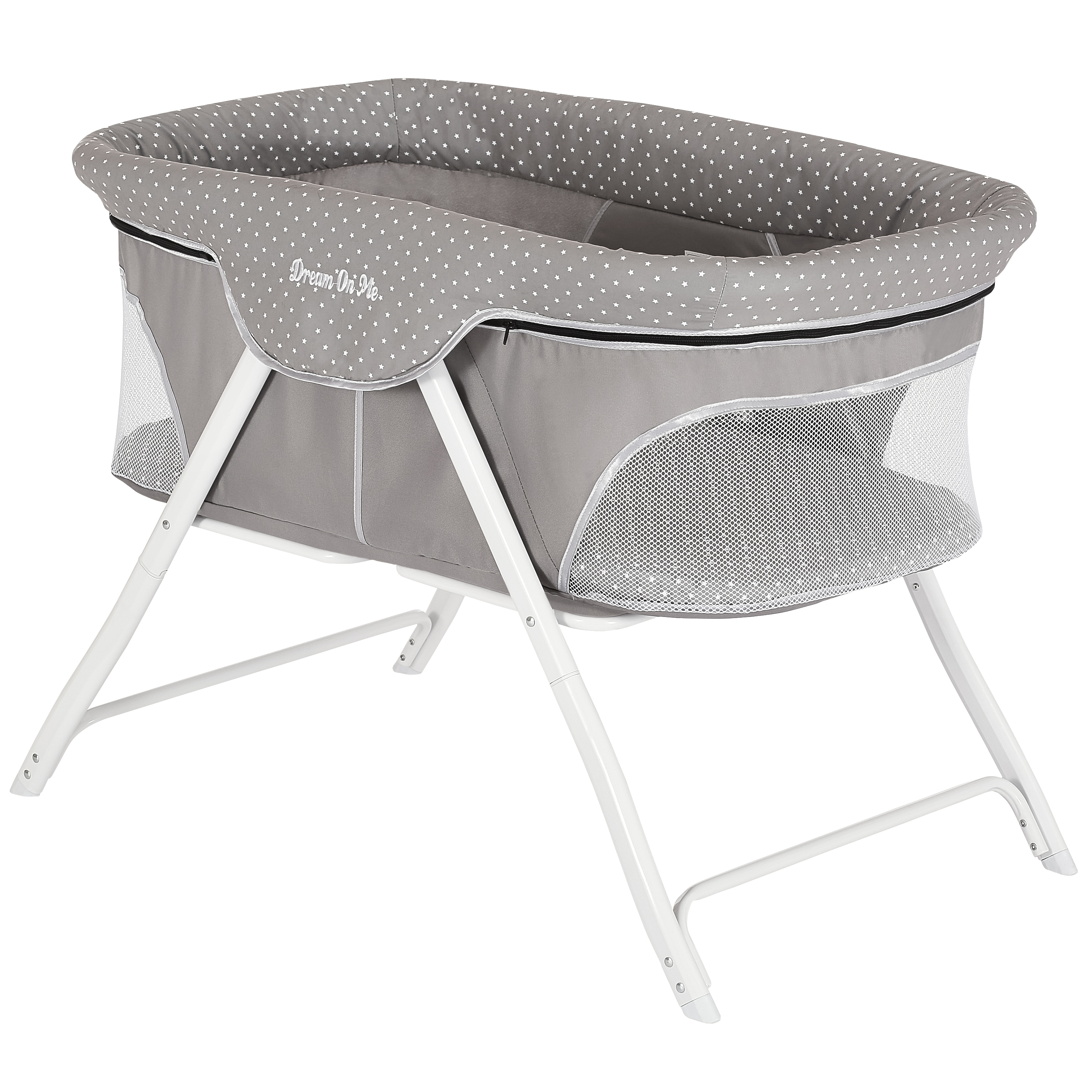 Dream On Me Traveler Portable Bassinet - Twinkle Gray
