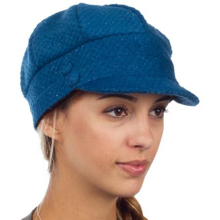 Sakkas - Sakkas Womens Wool Blend Newsboy   Cabbie Winter Hat   Cap with  Buttoned Detail - Blue - One Size - Walmart.com a5c27157d7c