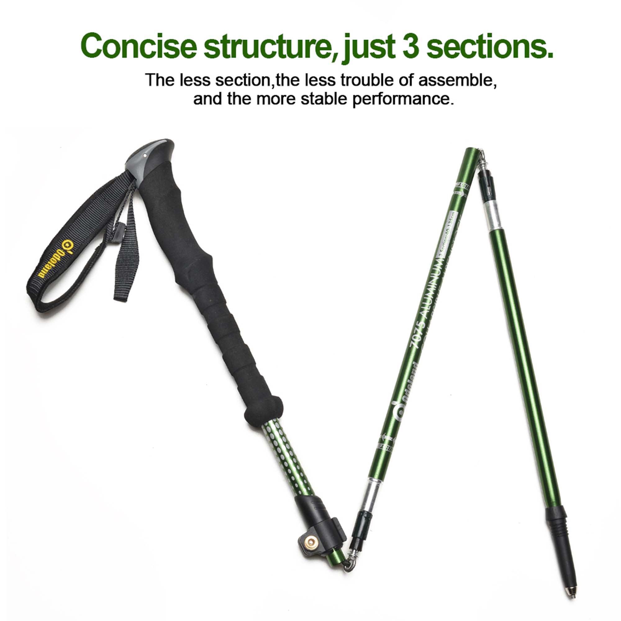 Click here to buy AGPtek Folding Telescoping Trekking Pole Alpenstocks Ultralight Adjustable Hiking Stick.