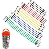 Stalwart 20-Piece Bungee Cord Assortment in Plastic Jar