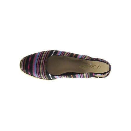 Beacon Womens Eastport Fabric Closed Toe Casual Espadrille Sandals (Leather Single Layer Rainbow Sandals)