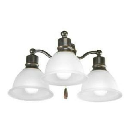 Madison Collection Three-Light Ceiling Fan Light
