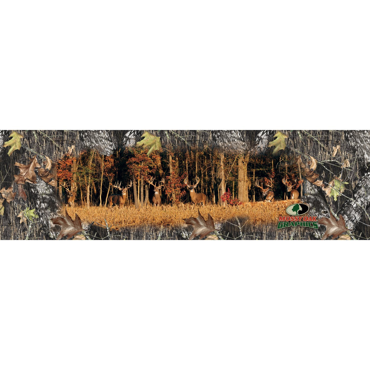 "Mossy Oak Graphics 11005-WL 66"" x 20"" Large Six Monster Bucks Window Graphic for Full Size Truck"
