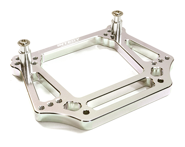 Integy RC Toy Model Hop-ups OBM-3639SILVER Alloy Front Shock Tower for Traxxas 1 10 Slash... by Integy