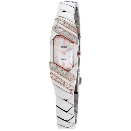 Women's SUP332 Stainless Steel and Diamond Solar Watch with a Mother of Pearl Dial