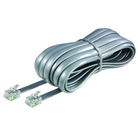 Accessory Line Cord - Softalk 46625 Phone Line Cord 25-Feet Silver Landline Telephone Accessory