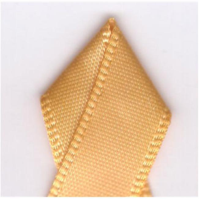 Papilion R074300160675100Y . 63 inch Single-Face Satin Ribbon 100 Yards - Gold