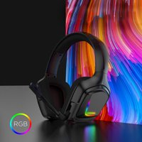 Gaming Headset for PS4 Xbox one Nintendo Switch, ODDGOD Gaming Headphones with Noise Cancelling Microphone, Bass Surround Sound Over Ear Wired Headset LED Lights