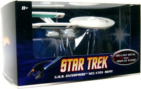 Star Trek Hot Wheels U.S.S. Enterprise NCC-1701 Diecast Vehicle [Refit] by