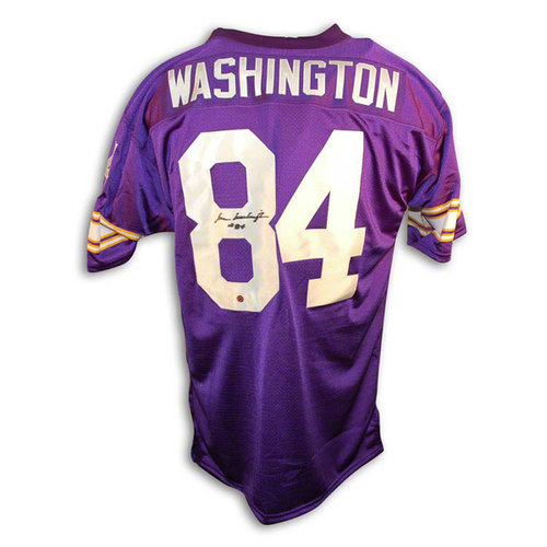 NFL - Gene Washington Autographed Minnesota Vikings Purple Throwback Jersey