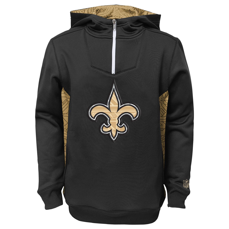 "New Orleans Saints Youth NFL ""Power Logo"" Performance Hooded Sweatshirt"