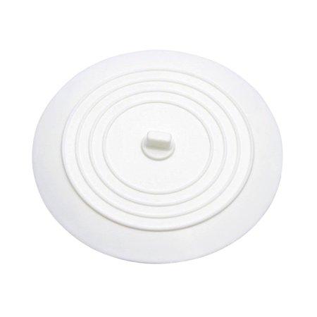 Bathroom Tub Drains - 1 pcs Silicone Sink Stopper Tub Drain Plug for Kitchens Bathrooms Laundries (White)