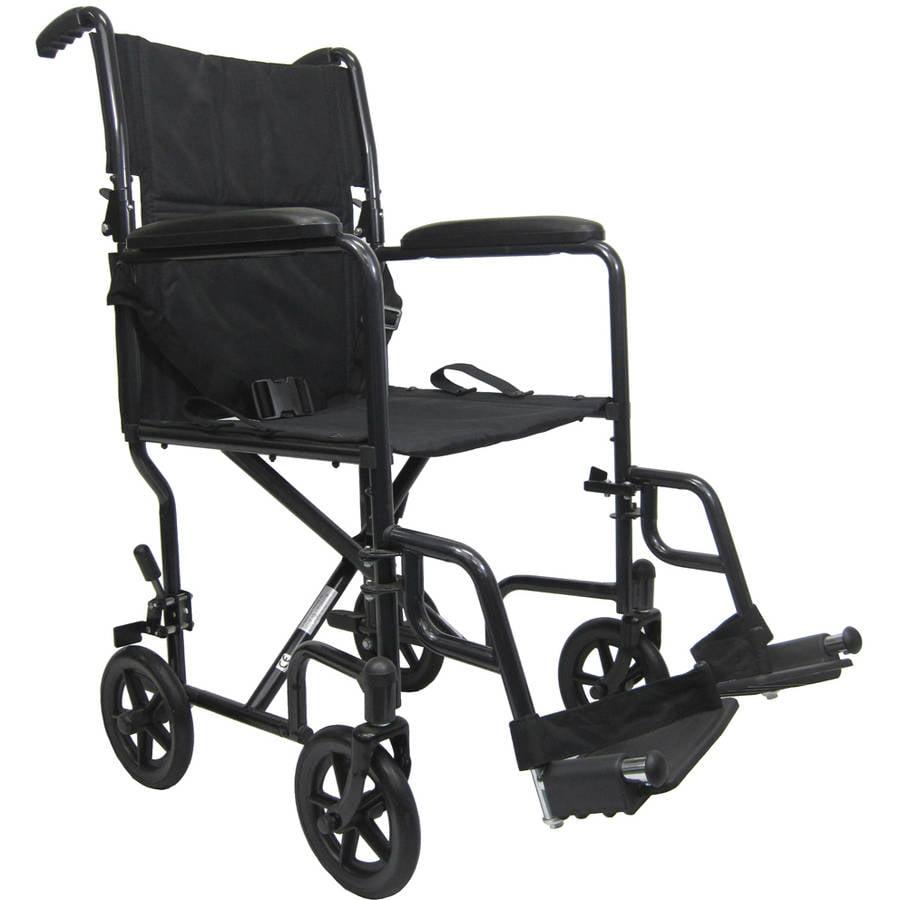 Karman LT-2019 19 pounds Aluminum Lightweight Transport Chair,  Black