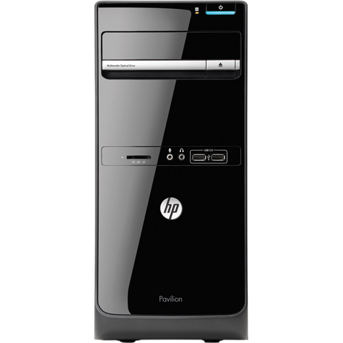 HP Black Pavilion p6-2317c Desktop PC with AMD A6-5400K Accelerated Processor, 8GB Memory, 1TB Hard Drive and Windows 8 Operating System (Monitor Not Included)