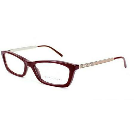 1984dd70cc2 Burberry BE2129-3317 Women s Burgundy Frame Genuine Eyeglasses NWT -  Walmart.com