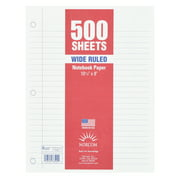 """Norcom Filler Paper, Wide Ruled, 500 Pages, 8"""" x 10.5"""", 78500"""