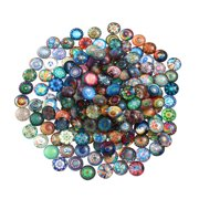 ROSENICE Mosaic Tiles 12mm Mixed Round for Crafts Glass Supplies 200pcs