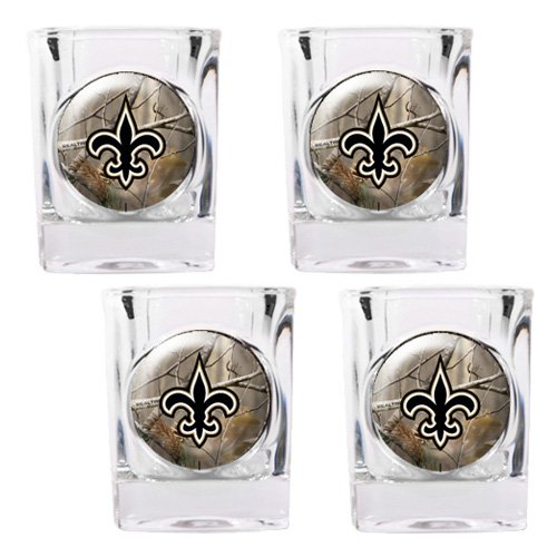 NFL - New Orleans Saints Open Field 4pc. Square Shot Glass Set