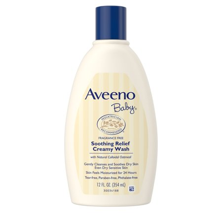 Aveeno Baby Soothing Relief Creamy Wash with Natural Oatmeal, 12 fl. oz