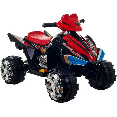 Ride On Toy Quad, Battery Powered ATV Four Wheeler With Sound Effects and Headlights by Rockin' Rollers, Toys for Boys and Girls 2-5 Year Olds (Black)