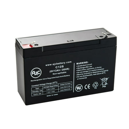 Para Systems Minuteman Alliance A 1250 2  A1250 2 6V 12Ah Ups Battery   This Is An Ajc Brand  174  Replacement
