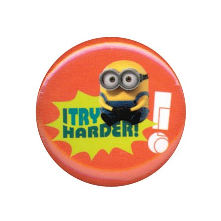 Despicable Me Minions I Try Harder 1.25 Inch Button](Halloween Try Me Button)