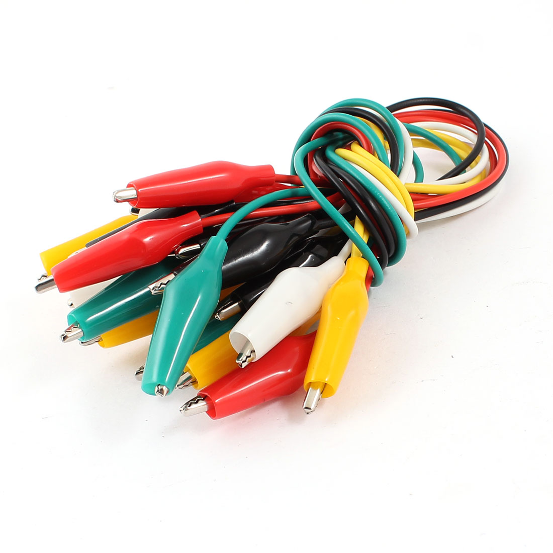 10Pcs Double-ended Test Leads Alligator Crocodile Roach Clip Jumper Wire 30cm