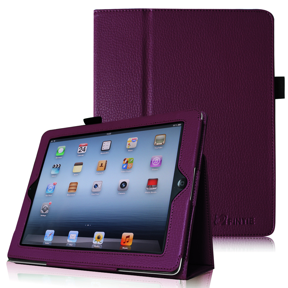 Fintie Premium PU Leather Folio Case Cover with Auto Wake/ Sleep Feature For iPad 2/3/4 Generation, Purple