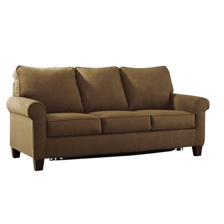 ashley zeth fabric full size sleeper sofa in denim. Black Bedroom Furniture Sets. Home Design Ideas