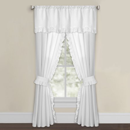 Levinsohn Textile White Microfiber Eyelet Curtain Panel - Eyelet Window