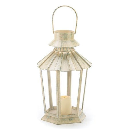 Lantern For Candle Wrought Metal Holder Outdoor Decor