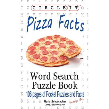 Circle It, Pizza Facts, Word Search, Puzzle Book