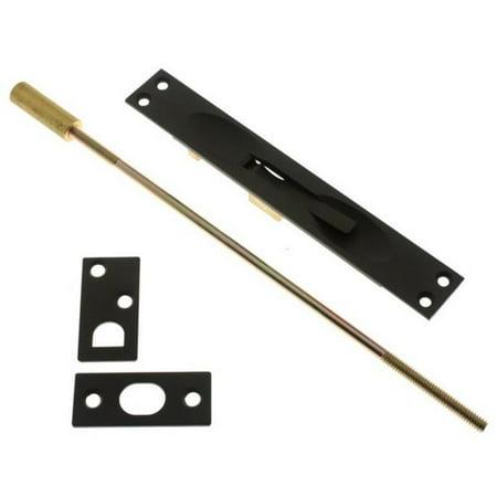 Bronze Flush Bolt - Idh by St. Simons 11020-10B Solid Brass Extension Flush Bolt UL Standard Rod, Oil-Rubbed Bronze - 12 in.