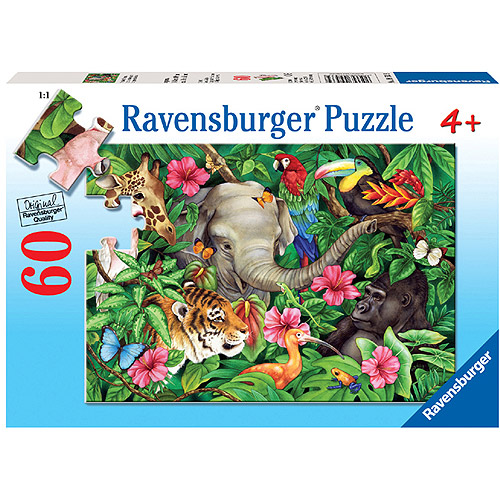 Ravensburger Tropical Friends Puzzle, 60 Pieces