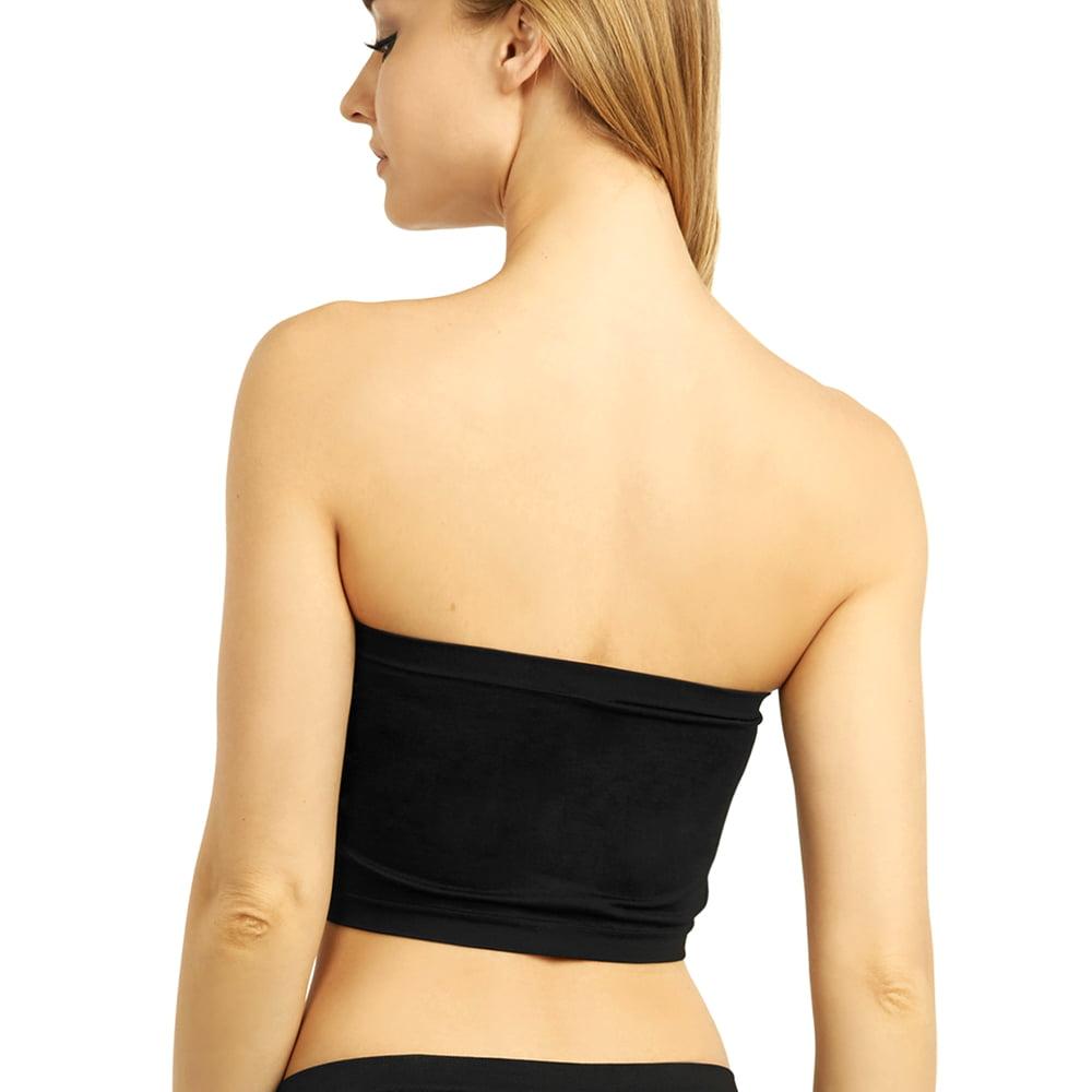 a885aebbd2 UNIHOSIERY - 2 Women Seamless Strapless Bra Bandeau Fit Fashion Tube Top  Sport Bra Yoga Shirt - Walmart.com