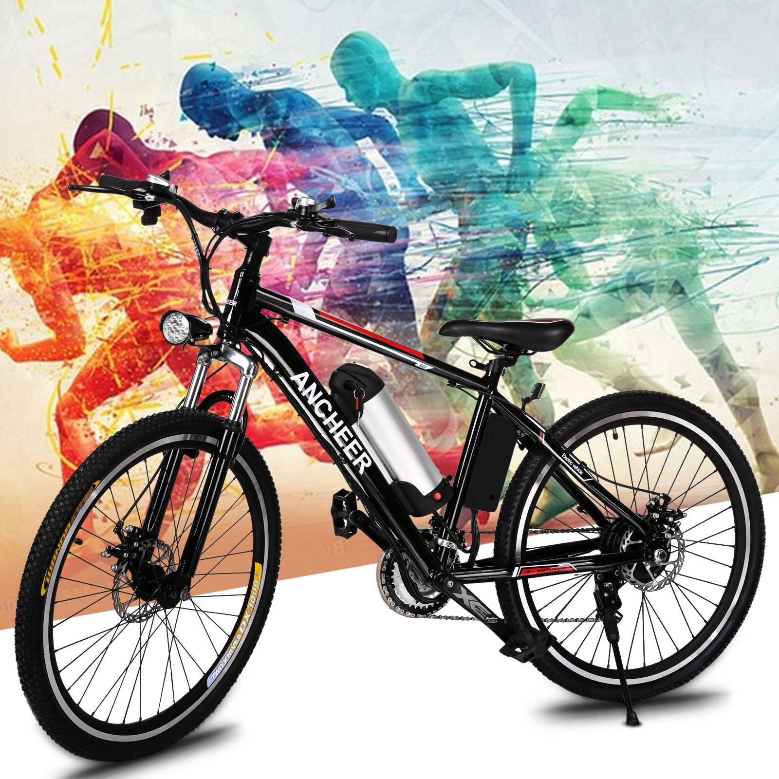 "BETT 25"" Power Plus Electric  Mountain Bike Aluminum Alloy Frame EBike Cycling Bicycle"
