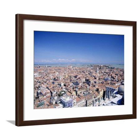 Above View of Venice, Italy Framed Print Wall Art By Tomas del Amo (Del Amo Shopping)