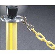 LAWRENCE METAL 966-35-12/0-2-960PB Plastic Chain,Yellow,Brass,12 ft. L