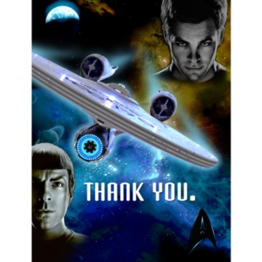 Star Trek Party Thank You Notes.