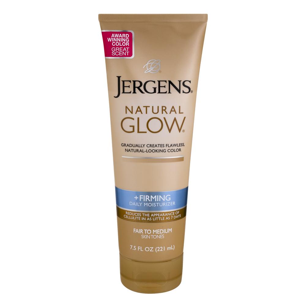 Jergens Natural Glow +Firming Daily Moisturizer Fair to Medium, 7.5 FL OZ