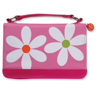 Microfiber Daisy Pink Zipper Pocket Med Book and Bible Cover (Other)