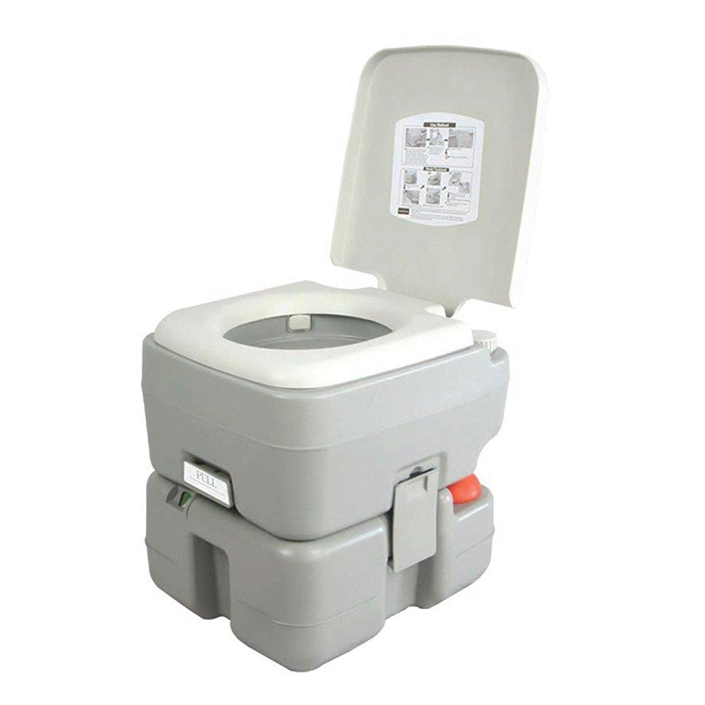 SereneLife Portable Toilet - Porta Potty Seat with Piston...